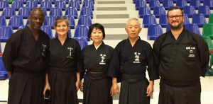 From left to right: Abdul Oyede, Isa Carbone, Kinomoto Sensei, Matsuoka Sensei, Will Heal.